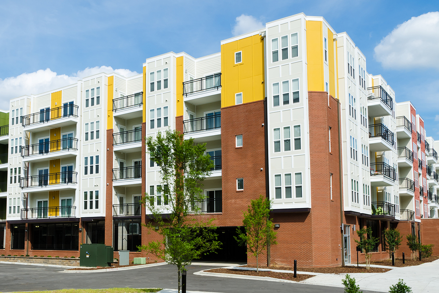 Modern condo building